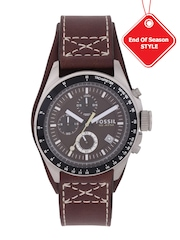 Fossil Men Chronograph Brown Multifunction Dial Watch CH2599I