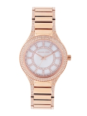 Michael Kors Women Mother of Pearl Stone-Studded Dial Watch 3313I