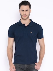 The Indian Garage Co. Navy Polo T-shirt