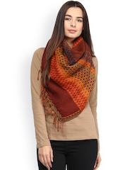 SHINGORA Orange Woollen Shawl