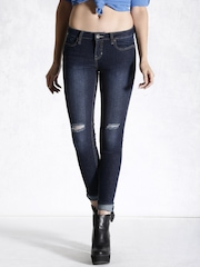 Roadster Navy Skinny Fit Jeans