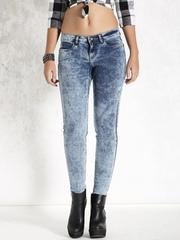 Roadster Blue Acid Wash Skinny Fit Jeans