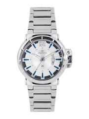 maxima Men Steel-Toned Dial Watch 29640CMGI