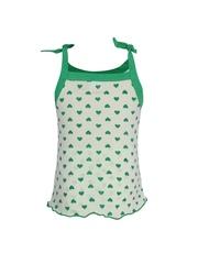 Jazzup Girls White Printed Shorts Set KZ-RDA1088
