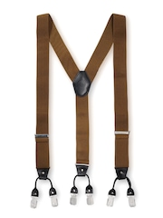 The Tie Hub Men Brown Suspenders