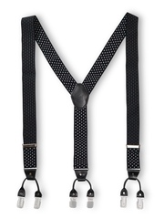 The Tie Hub Men Black & White Suspenders