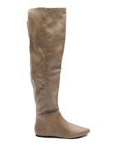 Qupid Women Light Brown Knee-High Boots