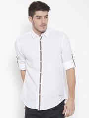 Jack & Jones White Slim Fit Casual Shirt