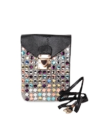 TrendBerry Women Black Embellished Mobile Pouch