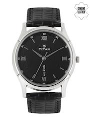 Titan Men Black Dial Watch 1636SL02