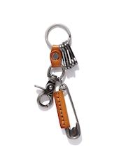 Roadster Brown & Gunmetal-Toned Key Chain