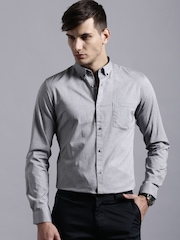 ether GREY ANTI MICROBIAL OXFORD SHIRT