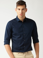 ether NAVY ANTI MICROBIAL COTTON STRETCH SHIRT