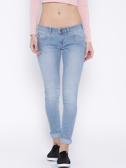 Wrangler Blue Jeggings Fit Jeans