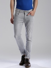 HRX by Hrithik Roshan Grey Washed Skinny Fit Jeans