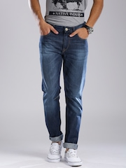 HRX by Hrithik Roshan Dark Blue Tapered Fit Jeans