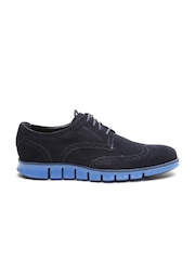 Cole Haan Men Navy Zerogrand DC WNG Suede Casual Shoes