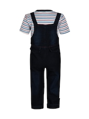 Jazzup Boys Blue Dungarees with Top
