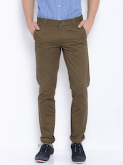 Arrow Sport Brown Chrysler Fit Chino Trousers