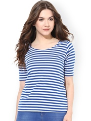Miss Chase Blue & White Striped Top