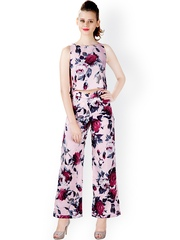Miss Chase Pink Floral Print Jumpsuit