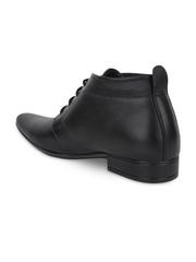 Guava Men Black Leather Formal Shoes