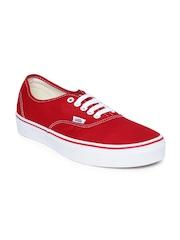 Vans Unisex Red Authentic Casual Shoes
