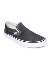 Vans Unisex Charcoal Grey Classic Slip-Ons