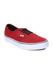 Vans Unisex Red Authentic Casual Shoes