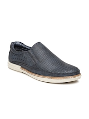 Roadster Men Navy Cut-Out Loafers