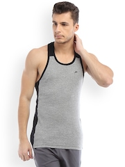 2go ACTIVE GEAR USA Grey Melange & Black Innerwear Vest EC-VS-02