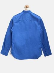 U.S. Polo Assn. Kids Boys Blue Casual Shirt