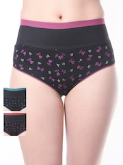 Lady Lyka Pack of 3 Printed Shapewear Briefs