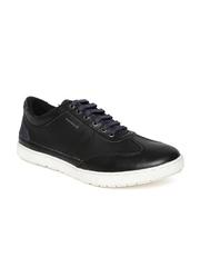Provogue Men Black Leather Sneakers