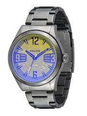 Police Men Yellow & Blue Dial Watch PL13453JSU61MAJ