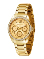 Police Women Gold-Toned Dial Watch PL14628BSG22MJ