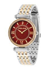 Police Women Red Dial Watch PL14631BSTG10MJ