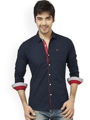 L.A. SEVEN Navy Slim Fit Casual Shirt