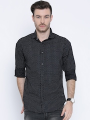 United Colors of Benetton Black Printed Casual Shirt