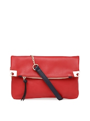 Mast & Harbour Red Oversized Clutch