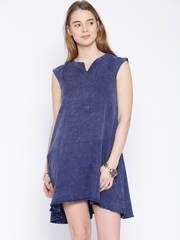 Alibi Blue Washed Shift Dress
