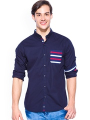Mufti Navy Slim Fit Casual Shirt