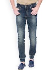 Mufti Olive Green Slim Jeans