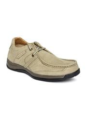 Woodland Men Khakhi Leather Casual Shoes