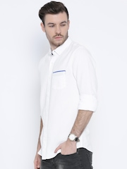 United Colors of Benetton White Casual Shirt