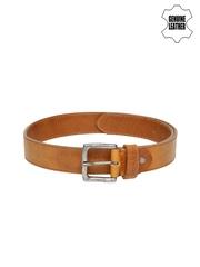 GAS Men Brown Genuine Leather Belt