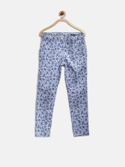 United Colors of Benetton Girls Powder Blue Printed Skinny Treggings