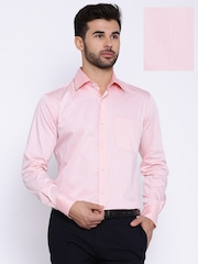Raymond Peach-Coloured Contemporary Fit Formal Shirt