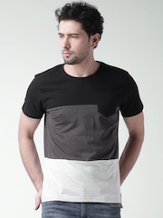 Moda Rapido Black & Charcoal Grey T-shirt