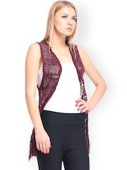 Nineteen Red Crochet Shrug